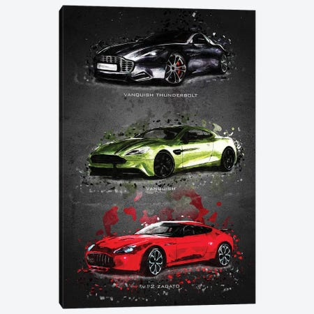 Aston Martin Canvas Print #GFN378} by Gab Fernando Canvas Artwork