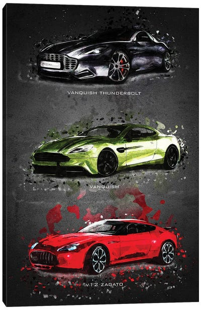 Aston Martin Canvas Art Print