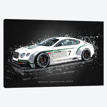 Bentley Continental GT3-R Canvas Print #GFN380} by Gab Fernando Canvas Print