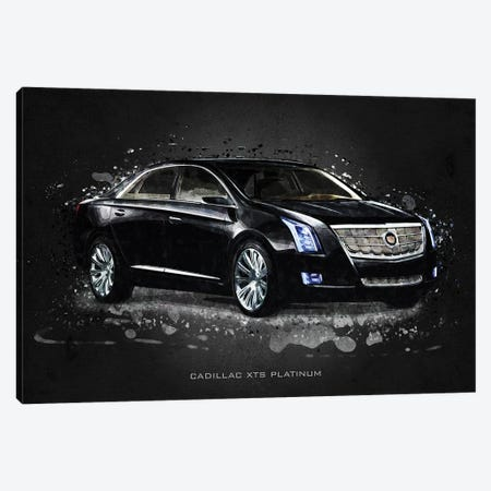 Cadillac XTS Platinum Canvas Print #GFN382} by Gab Fernando Canvas Print