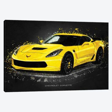 Chevrolet Corvette Acrylic Canvas Print #GFN385} by Gab Fernando Canvas Art
