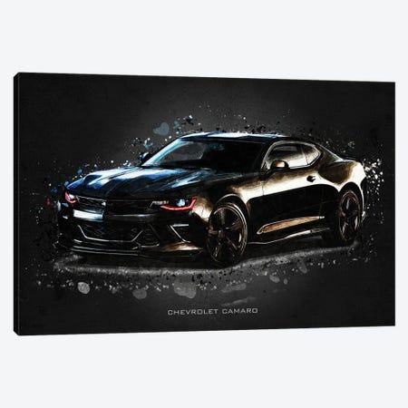 Chevrolet Camaro Acrylic Canvas Print #GFN386} by Gab Fernando Canvas Artwork