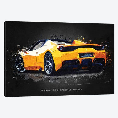 Ferrari 458 Speciale Aperta Canvas Print #GFN388} by Gab Fernando Canvas Art Print