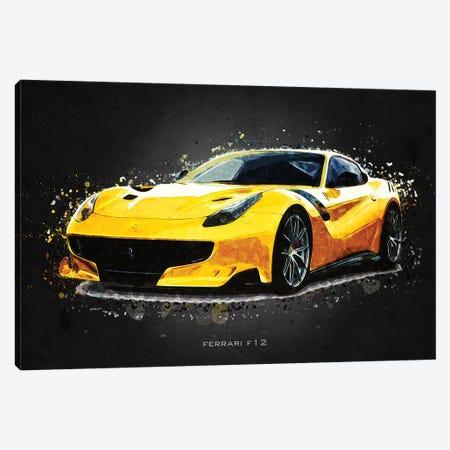 Ferrari F12 Canvas Print #GFN389} by Gab Fernando Canvas Print