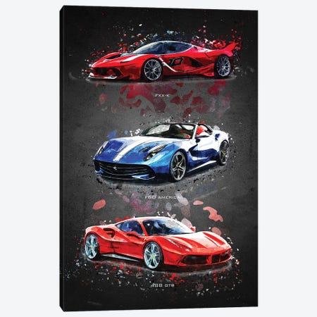 Ferrari1 Canvas Print #GFN390} by Gab Fernando Canvas Wall Art