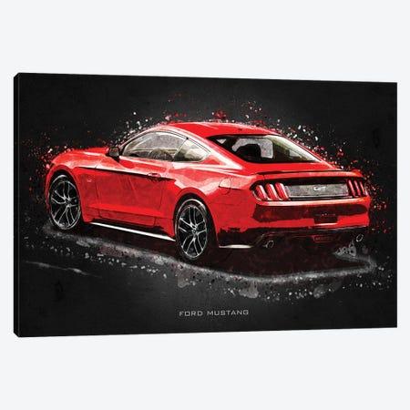 Ford Mustang Acrylic Canvas Print #GFN396} by Gab Fernando Art Print