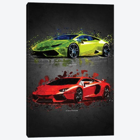 Lamborghini II Canvas Print #GFN398} by Gab Fernando Canvas Art