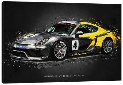 Porsche 718 Cayman GT4 Canvas Art Print