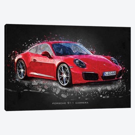 Porsche 911 Carrera Canvas Print #GFN404} by Gab Fernando Canvas Print