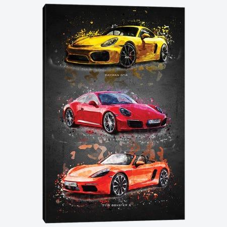 Porsche2 Canvas Print #GFN405} by Gab Fernando Canvas Art Print