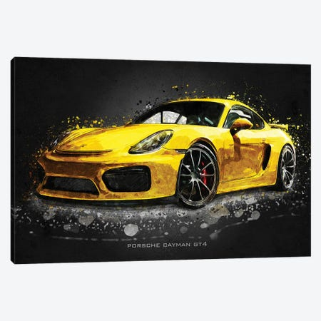Porsche Cayman Gt4 Acrylic Canvas Print #GFN406} by Gab Fernando Art Print