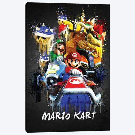 Mario Kart Canvas Print #GFN438} by Gab Fernando Art Print