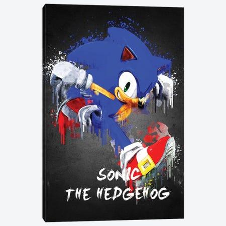 Sonic Canvas Print #GFN442} by Gab Fernando Canvas Art