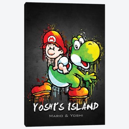 Yoshi Island Mario Canvas Print #GFN444} by Gab Fernando Canvas Print