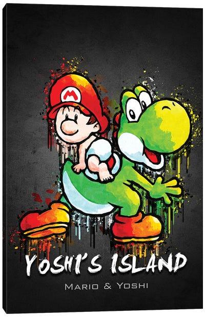 Yoshi Island Mario Canvas Art Print