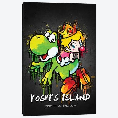 Yoshi Island Peach Canvas Print #GFN445} by Gab Fernando Art Print