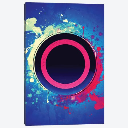 Playstation Circle Canvas Print #GFN446} by Gab Fernando Art Print