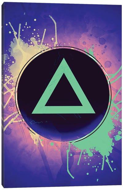 Playstation Triangle Canvas Art Print