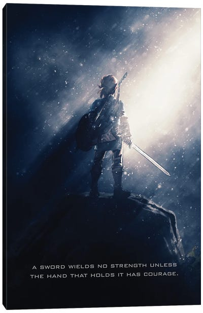Link Of Zelda Tagline Canvas Art Print