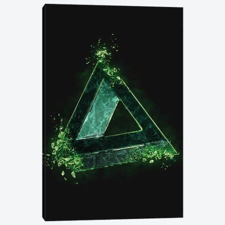Playstation Triangle Broken Canvas Print #GFN509} by Gab Fernando Canvas Print