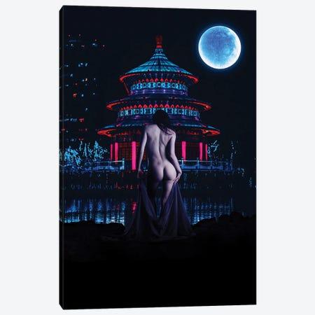 Night Swim Canvas Print #GFN50} by Gab Fernando Canvas Artwork
