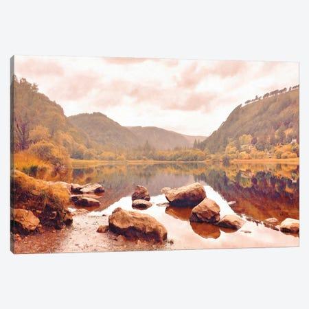 Lakeside in Autumn Canvas Print #GFT7} by Grafitee Studios Canvas Art