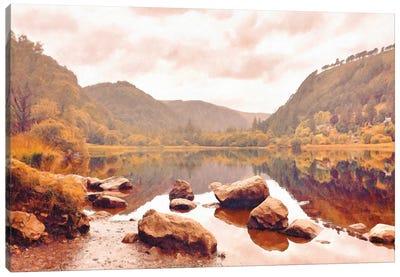 Lakeside in Autumn Canvas Art Print