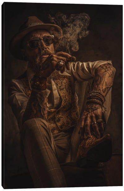 Le Roi De Gitanes Raconte Une Histoire Canvas Art Print
