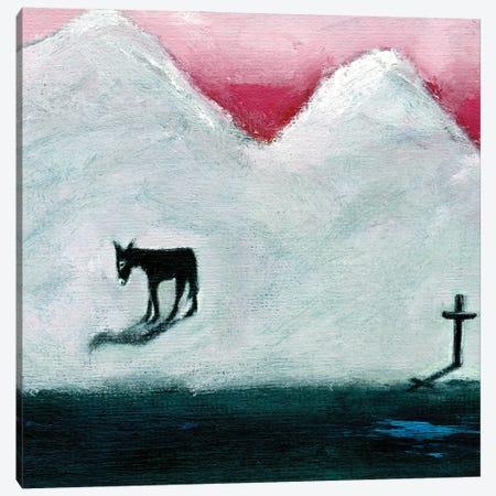 Donkey And Cross, 2003 Canvas Print #GGI1} by Gigi Sudbury Canvas Wall Art