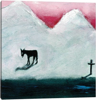Donkey And Cross, 2003 Canvas Art Print