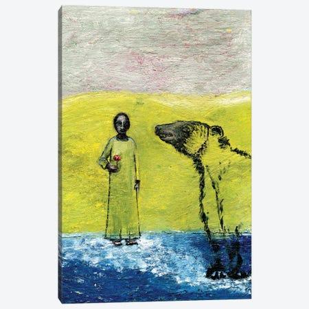 Sweet Rose And Brown Bear, 2005 Canvas Print #GGI3} by Gigi Sudbury Canvas Wall Art