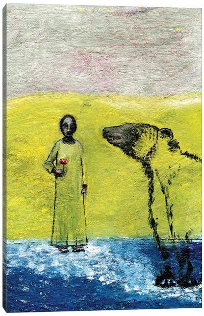 Sweet Rose And Brown Bear, 2005 Canvas Art Print