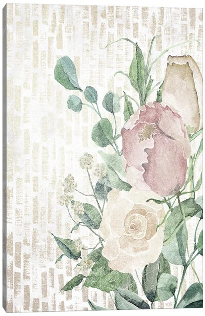 Neutral Flowers II Canvas Art Print