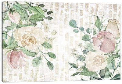 Neutral Flowers III Canvas Art Print