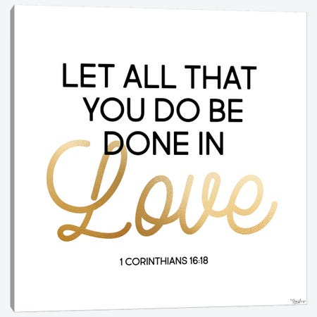 Done In Love Canvas Print #GGL14} by Gigi Louise Canvas Art