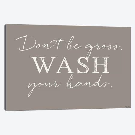 Wash Hands Canvas Print #GGL17} by Gigi Louise Canvas Artwork