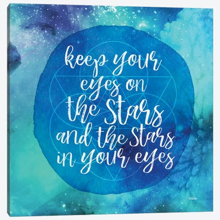 Starry Eyes Canvas Print #GGL1} by Gigi Louise Art Print