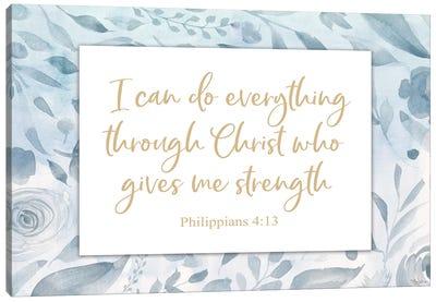 Christ Strength Canvas Art Print