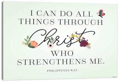 Christ Strengthens Canvas Art Print