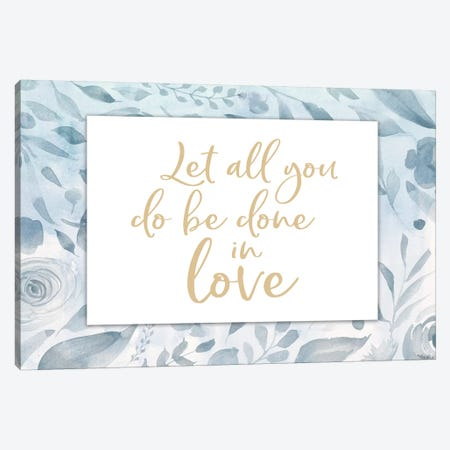 Done In Love Canvas Print #GGL28} by Gigi Louise Canvas Art