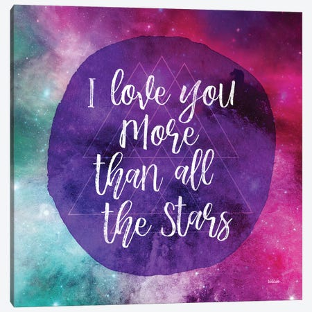 Starry Loved Canvas Print #GGL2} by Gigi Louise Art Print
