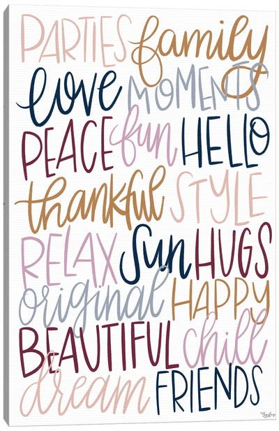 Fun Words Canvas Art Print