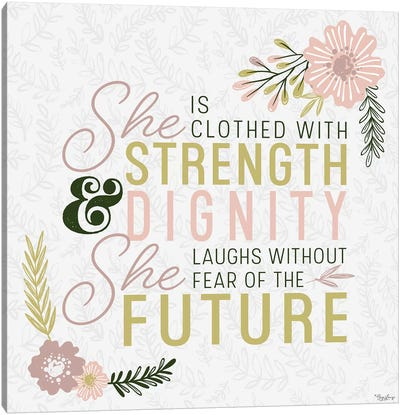 She Strength Canvas Art Print