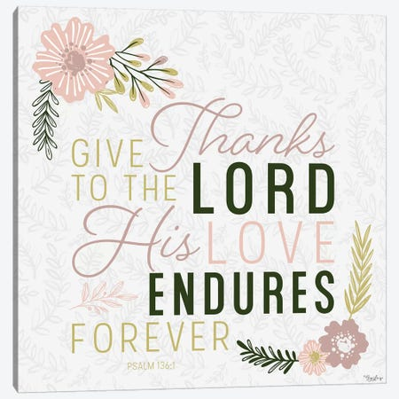Thanks Lord Canvas Print #GGL33} by Gigi Louise Canvas Print