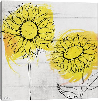 Two Sunflowers Canvas Art Print
