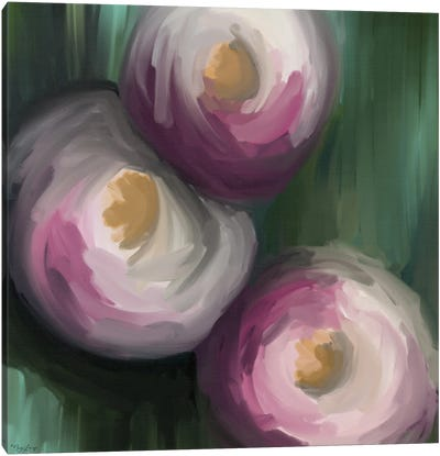 Abstract Pink Flowers Canvas Art Print