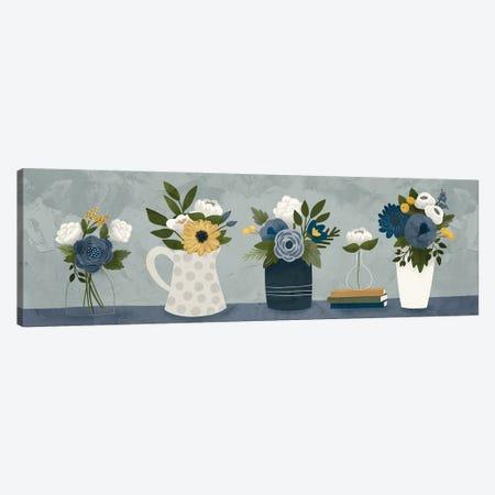 Blue Flower Group Canvas Print #GGL39} by Gigi Louise Canvas Art Print