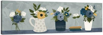 Blue Flower Group Canvas Art Print