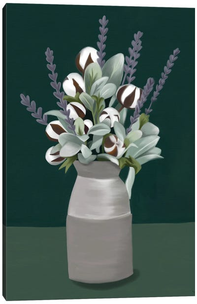Cotton And Lavender Canvas Art Print
