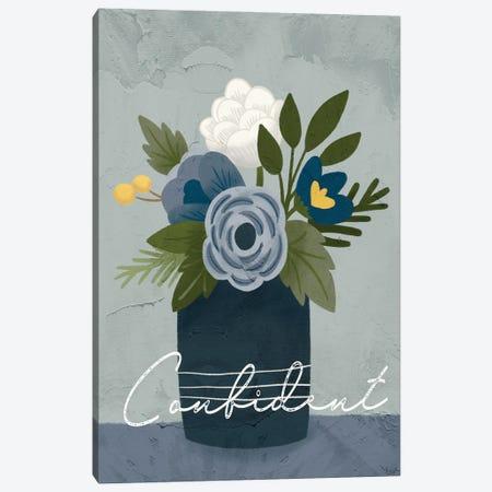 Flower Confident Canvas Print #GGL44} by Gigi Louise Art Print